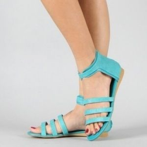 Sarah69 Stingray Strappy Gladiator Flat Sandals Te